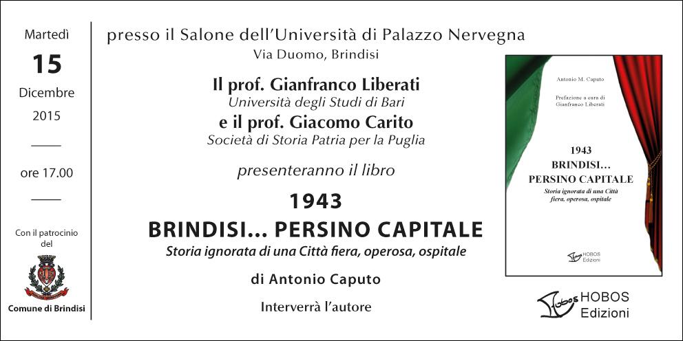 1943 BRINDISI PERSINO CAPITALE - invito